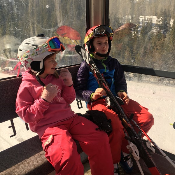 Photo taken at Breck Connect Gondola by Nate F. on 3/18/2017