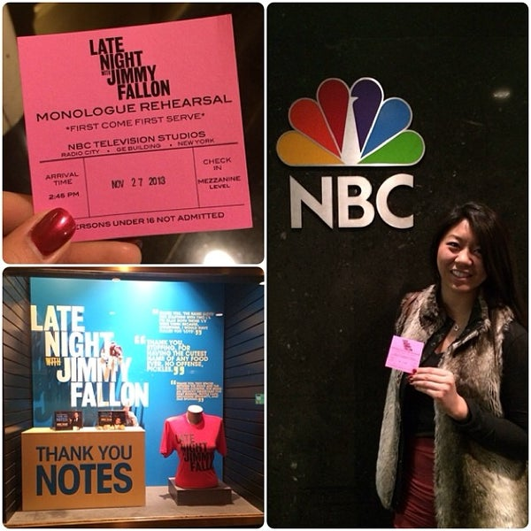 Photo taken at Late Night with Jimmy Fallon by Lily on 11/27/2013