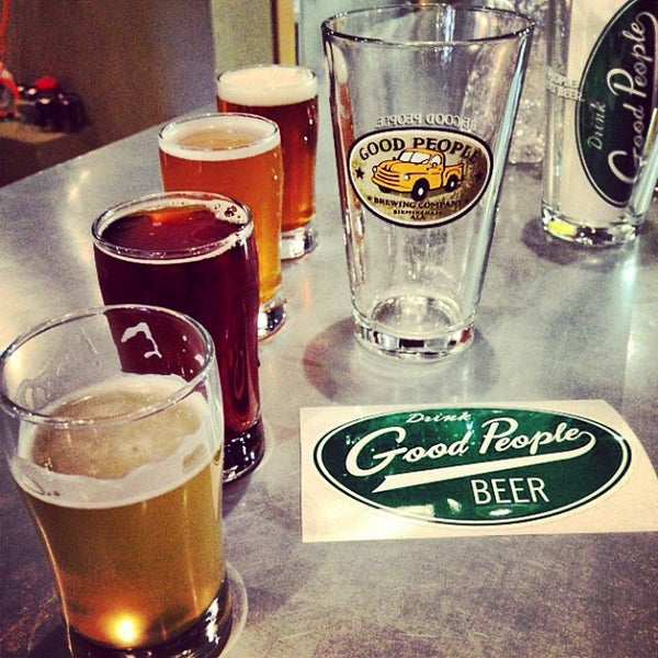 Photo taken at Good People Brewing Company by Allie F. on 5/25/2013