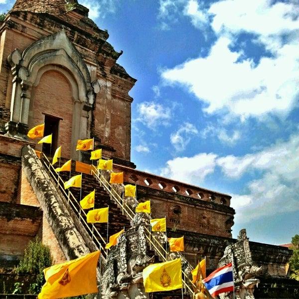 Photo taken at Wat Chedi Luang Varavihara by t$uki T. on 2/15/2014