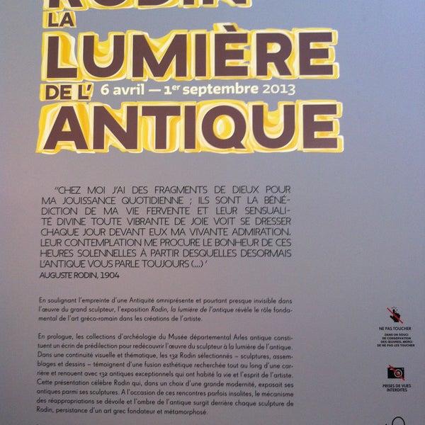 Photo taken at Musée de l'Arles antique by Mat O. on 4/18/2013