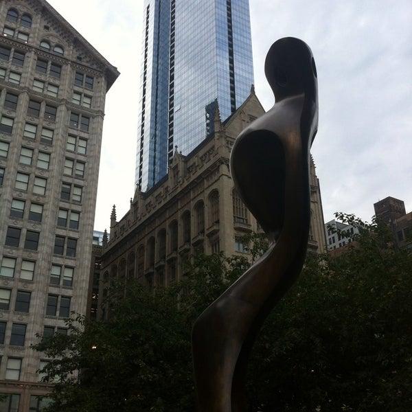 Photo taken at Sculpture Garden - Art Institute of Chicago by ariq d. on 8/28/2014
