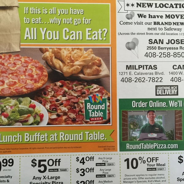 Photos At Round Table Pizza Berryessa San Jose CA - Round table pizza lunch buffet coupon