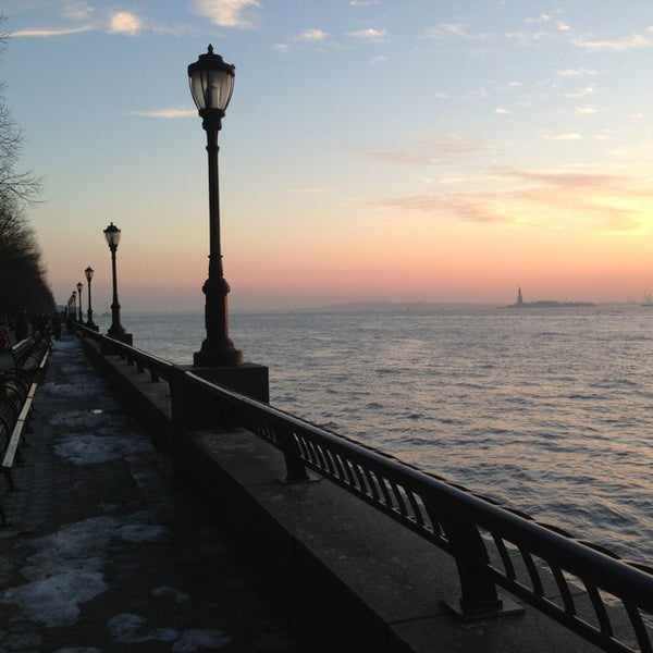 Photo taken at Battery Park City Esplanade by Dilek K. on 2/14/2013
