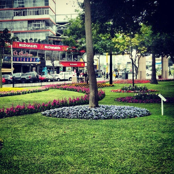 Photo taken at Parque Kennedy by Christian C. on 10/4/2012