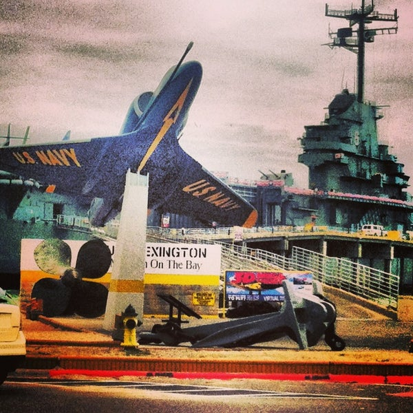 Photo taken at USS Lexington Museum On The Bay by Peter R. on 3/28/2013