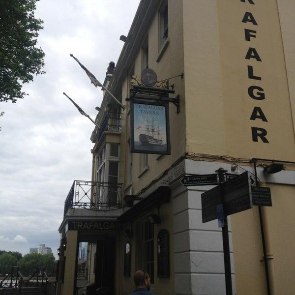 Photo taken at Trafalgar Tavern by Carrie B. on 6/24/2013