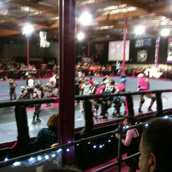 Photo taken at Doll Factory (L.A. Derby Dolls) by Courtney S. on 1/21/2013