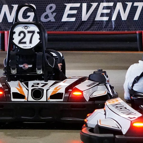 Photo taken at Unser Karting & Events by Sean C. on 5/13/2016