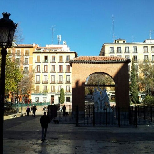 Photo taken at Plaza del Dos de Mayo by Manel F. on 12/8/2012