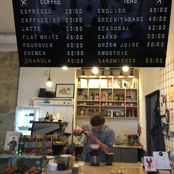 Снимок сделан в First Point Espresso Bar пользователем Yana S. 5/19/2016