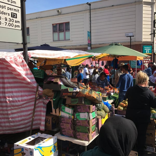 Photo taken at Ridley Road Market by Susan K. on 6/3/2017
