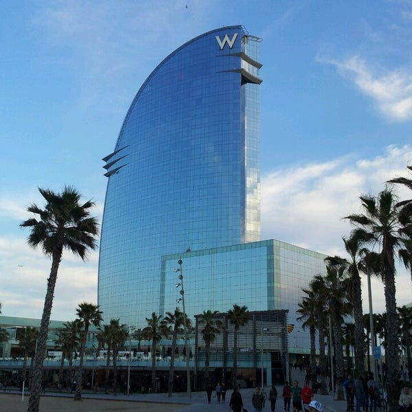 Photo taken at W Barcelona by Markus F. on 3/31/2013