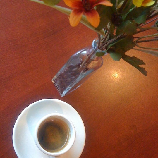 Delicious espresso. Beans are roasted on site