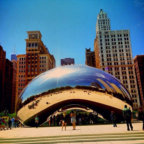 Photo taken at Cloud Gate by Anish Kapoor by BADER C. on 6/18/2013