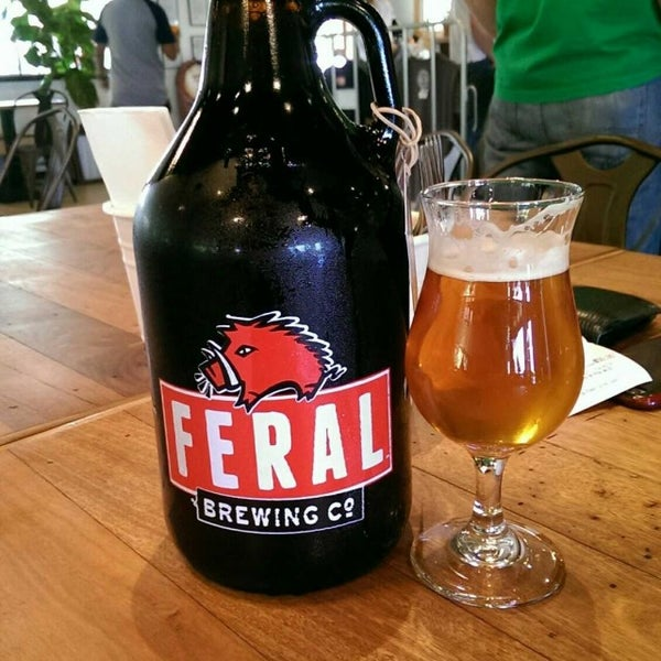 Photo taken at Feral Brewing Company by Milk I. on 4/7/2017