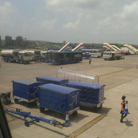 Photo taken at Goa International Airport / Dabolim Airport (GOI) by Aparna B. on 9/18/2012