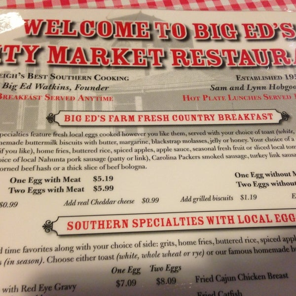 Photo taken at Big Ed's City Market Restaurant by MB on 1/28/2013