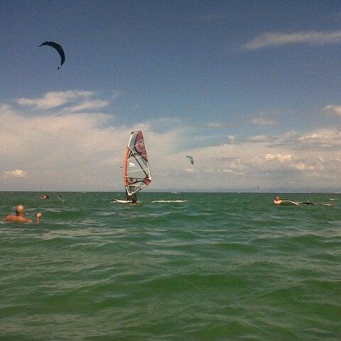 Photo taken at Playa El Yaque by Daniil P. on 5/5/2013