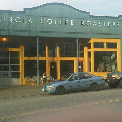 Photo taken at Victrola Cafe and Roastery by Mike R. on 2/18/2013