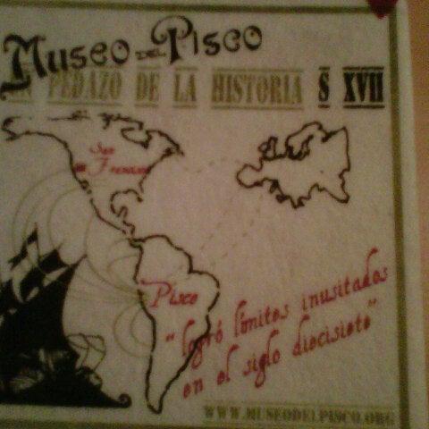 Foto tomada en Museo del Pisco por Maria Gracia V. el 12/30/2012