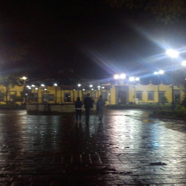 Photo taken at Jardín Hidalgo by JuanCarlos C. on 7/21/2013