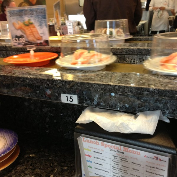 Gatten sushi revolving sushi bar now closed wilshire for Food bar wilshire