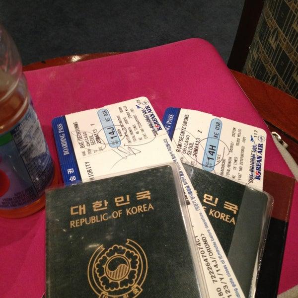 Photo taken at Korean Air Lounge by Jessica B. on 5/20/2013