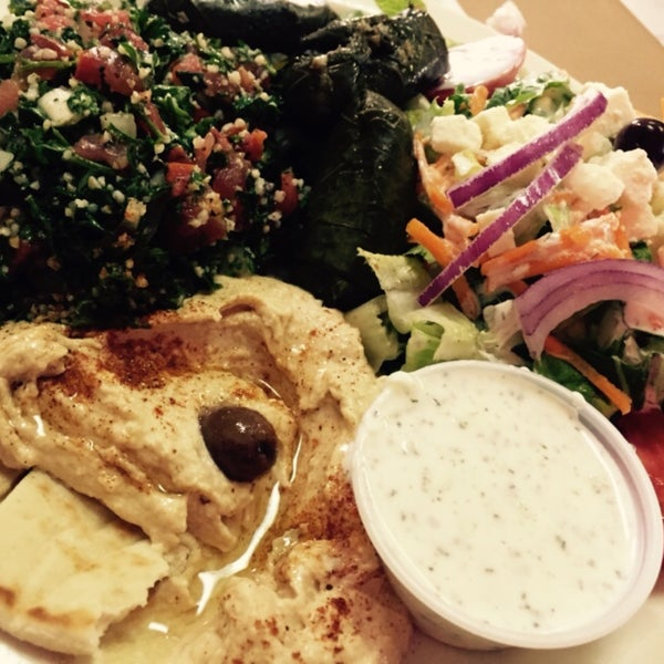 Photo taken at Aladdin Mediterranean Grill by Kelly H. on 9/25/2015