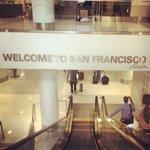 Photo taken at San Francisco International Airport (SFO) by Sabina R. on 11/19/2013