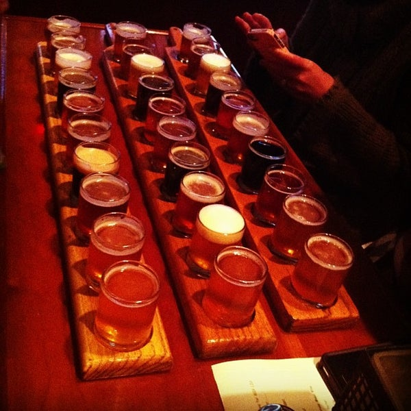 Photo taken at Portsmouth Brewery by Steve N. on 2/23/2013