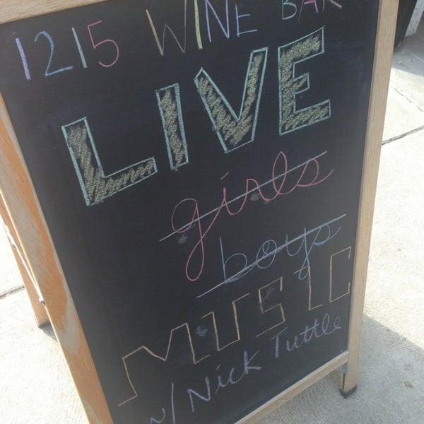 Photo taken at 1215 Wine Bar & Coffee Lab by Kristen A. on 3/10/2013