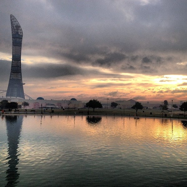 Photo taken at Aspire Park by mohammed l. on 2/8/2013