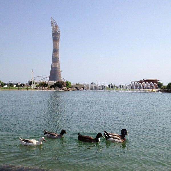 Photo taken at Aspire Park by mohammed l. on 10/31/2012