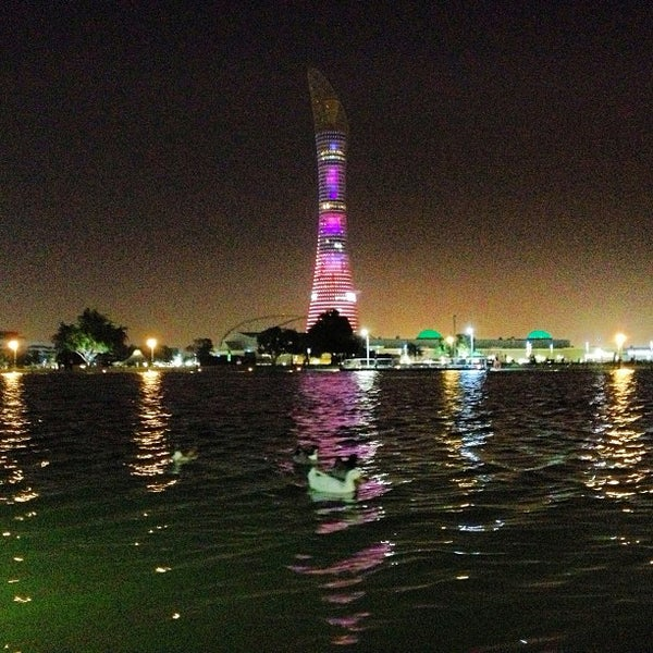 Photo taken at Aspire Park by mohammed l. on 3/8/2013