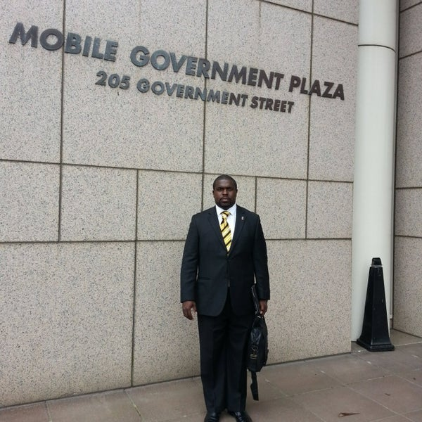 Photo taken at Mobile Government Plaza by Sonless M. on 3/22/2013