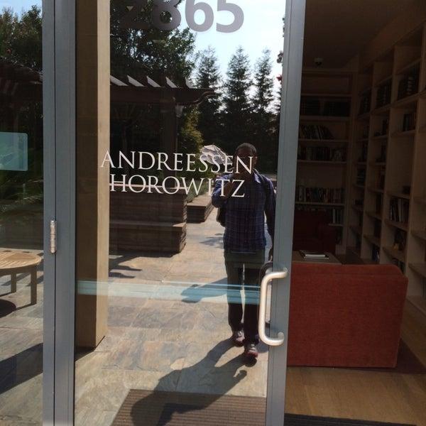 Photo taken at Andreessen Horowitz by Royce on 8/5/2014