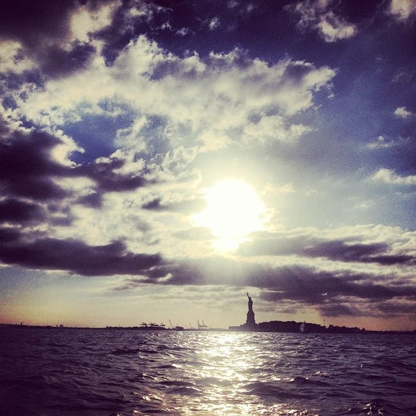 Photo taken at New York Harbor by Julie H. on 10/14/2013
