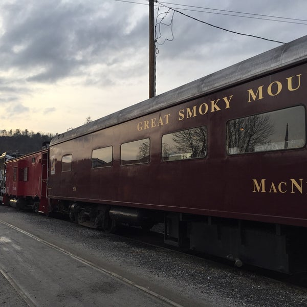 Photo taken at Great Smoky Mountain Railroad by Rebecca B. on 12/5/2014