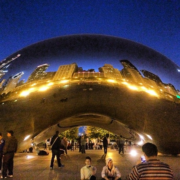 Photo taken at Cloud Gate by Anish Kapoor by DJ JOSH L. on 10/13/2013