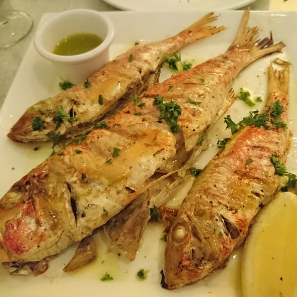 Had some wonderful grilled red mullet. Delicious!