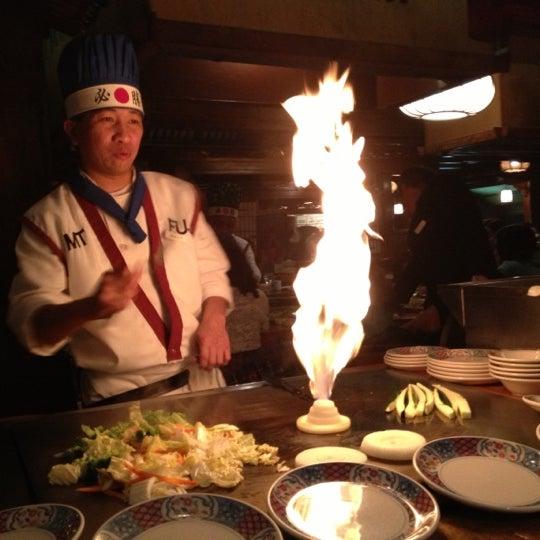 Photo taken at Mt. Fuji Japanese Steak House by Bryan L. on 12/3/2012