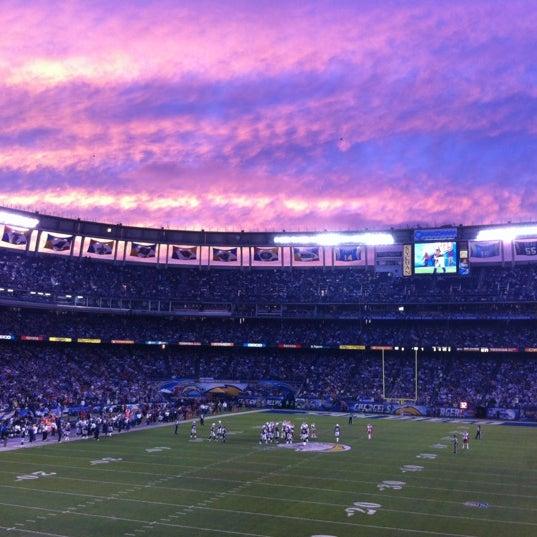 Photo taken at Qualcomm Stadium by Mario M. on 11/3/2012