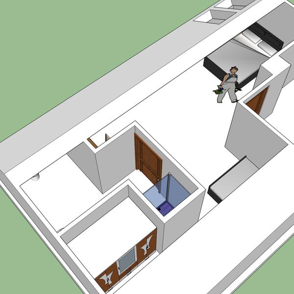 Attic room layout, room #10.