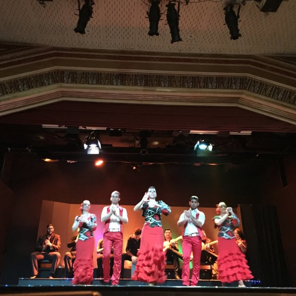 Photo taken at Palacio del Flamenco by Sevcannaz on 2/7/2015