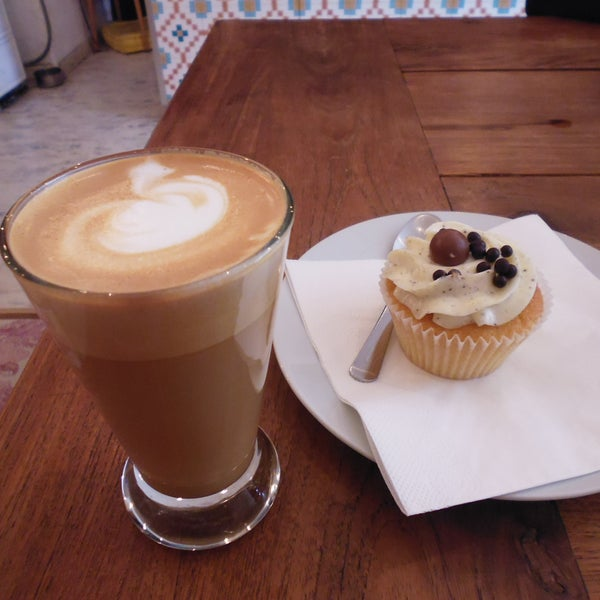 The best coffee I've tried in Vienna and cupcakes so good they made me weak at the knees