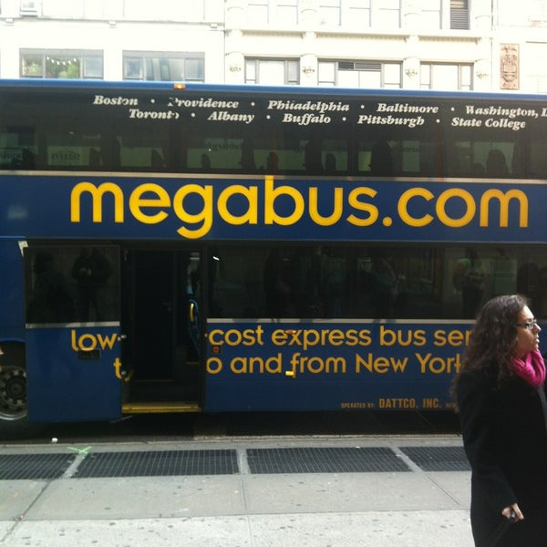 Photo taken at Mega Bus - 7th Ave & 27th St by Jay M.