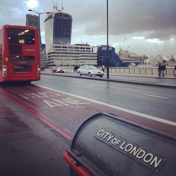 Photo taken at London Bridge by Livio D. on 1/26/2014