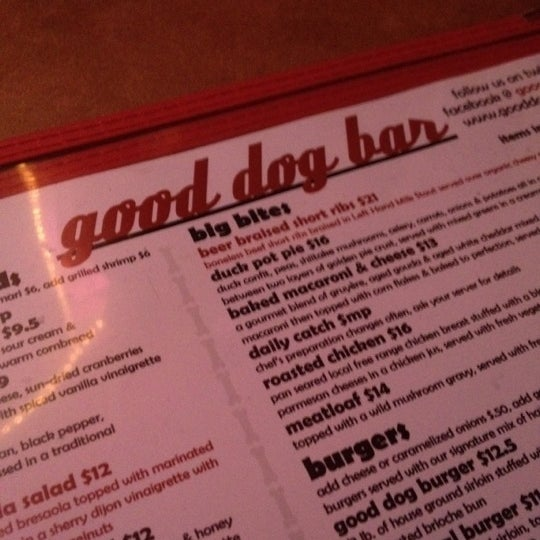Photo taken at Good Dog Bar & Restaurant by Ted C. on 1/12/2012