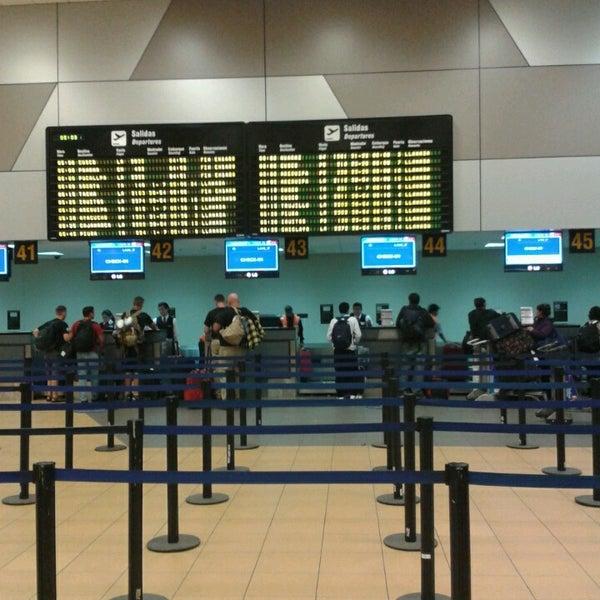 Photo taken at Jorge Chávez International Airport (LIM) by Franco G. on 8/31/2013